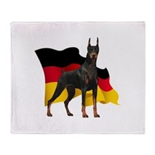 German Flag Doberman Throw Blanket