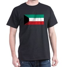 Kuwait Flag Black T-Shirt