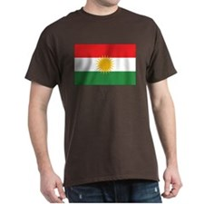 Kurdistan Flag Black T-Shirt
