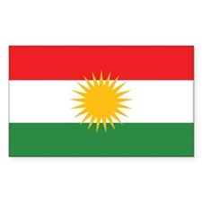 Kurdistan Flag Rectangle Decal