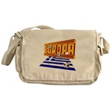 Flag of Greece football Messenger Bag