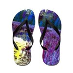 Purple Swamp Trailer Park Flip Flops