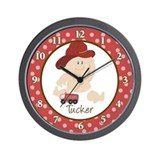 Baby Fire Fighter Wall Clock - Tucker