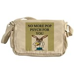 pop psych gifts and t-shirts Messenger Bag