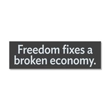 Freedom Fixes Economy Car Magnet 10 x 3