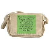 Niels Bohr quotes Messenger Bag