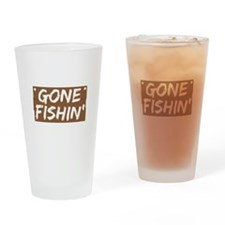 Gone Fishin' (Fishing) Drinking Glass