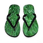 Green As Grass Flip Flops