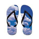 Soaring Blue Clouds Flip Flops