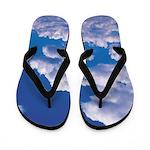 Soaring Blue Clouds Flip Flops