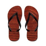 Faux Wood Flip Flops