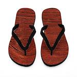 Faux Wood Flip Flops
