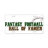 Fantasy Football HOF Aluminum License Plate