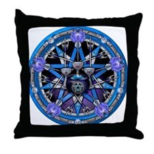 Water Elemental Pentacle Throw Pillow