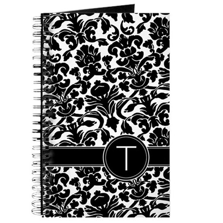 Monogram Damask B/W Journal