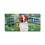 Bridge - Brittany Spaniel Aluminum License Plate