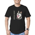 Siberian Husky Men's Fitted T-Shirt (dark)