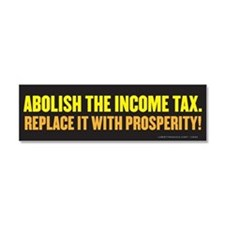 Cute Flat tax Car Magnet 10 x 3