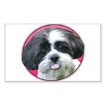 Funny Shih Tzu Sticker (Rectangle 10 pk)