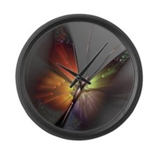 Multicolored Butterfly Large Wall Clock
