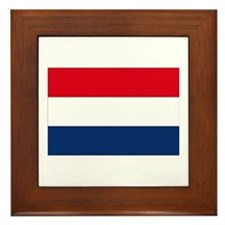 Dutch Flag Framed Tile