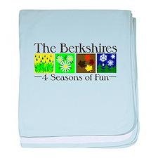 The Berkshires 4 seasons of fun baby blanket