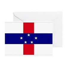 Netherlands Antilles Flag Greeting Cards (Package