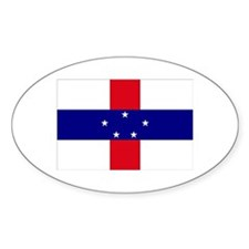 Netherlands Antilles Flag Oval Decal
