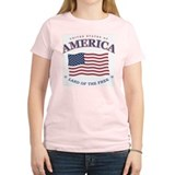 American flag Women's Pink T-Shirt