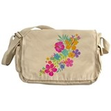 Tropical Flowers Messenger Bag