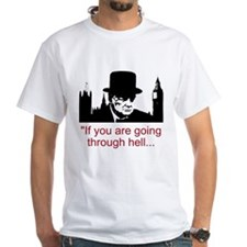 Churchill Quotes - T-Shirt (white)
