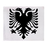 Albanian Eagle Throw Blanket
