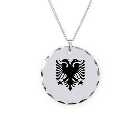 albanian eagle necklace circle charm by worldcitizens