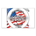 Mustang Original Sticker (Rectangle 50 pk)