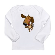 Dancing Dog Long Sleeve Infant T-Shirt