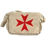 Red Maltese Cross Messenger Bag