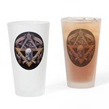 Cute Masonic Drinking Glass