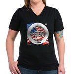 Mustang Classic 2012 Women's V-Neck Dark T-Shirt