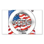 Mustang Classic 2012 Sticker (Rectangle 10 pk)