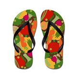 Very Veggie [dark] Flip Flops