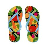 Very Veggie [black] Flip Flops