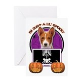 Just a Lil Spooky Basenji Greeting Card