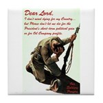 A Soldier's Prayer Tile Coaster