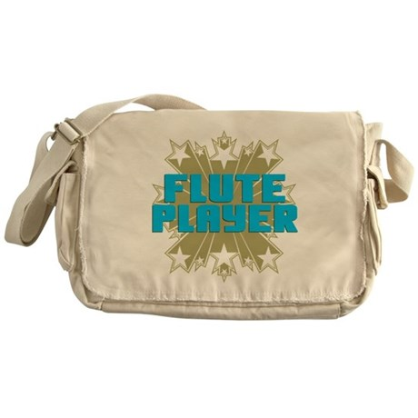 Star Flute Player Messenger Bag