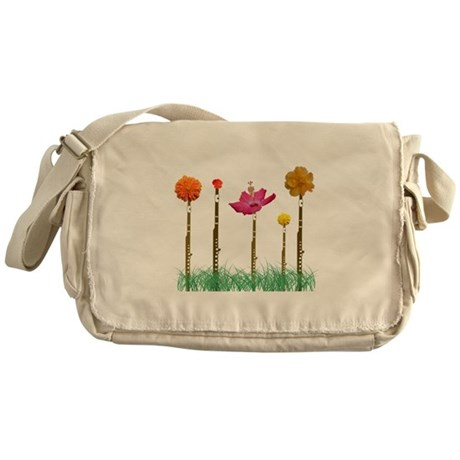 Flute Flowers Messenger Bag