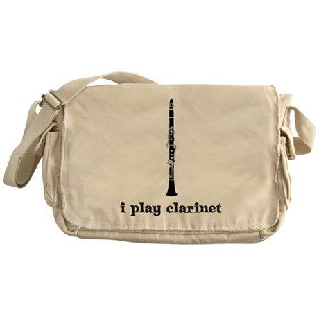 I Play Clarinet Messenger Bag