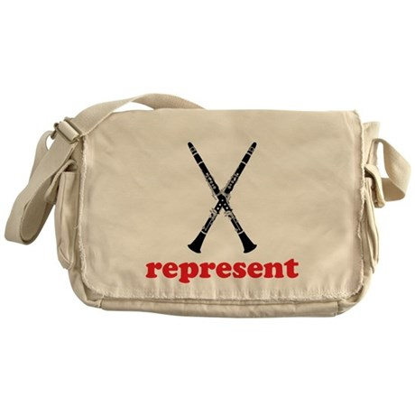 Clarinet Represent Messenger Bag
