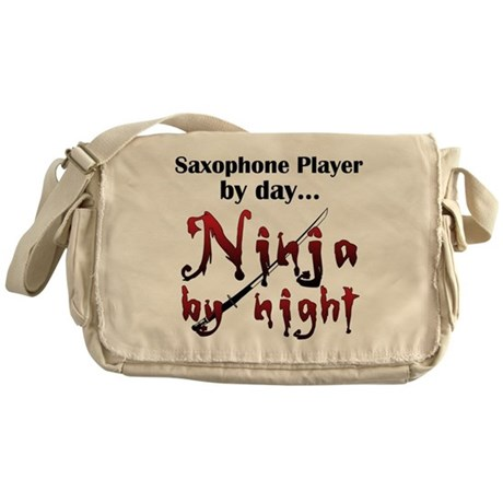 Saxophone Ninja Messenger Bag