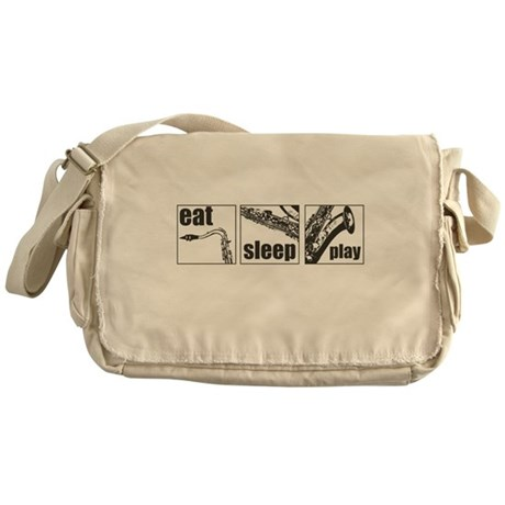 Eat Sleep Play Sax Messenger Bag