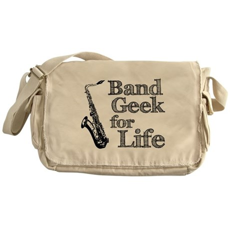 Saxophone Band Geek Messenger Bag